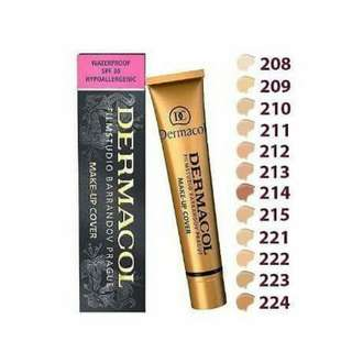 Instock Dermacol Foundation Full Coverage Waterproof