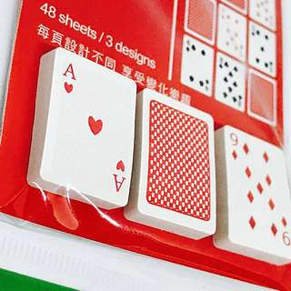 Playing Cards Mini Post It