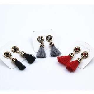 Free postage Tassel earrings stud jewellery jewelry trend fashion drop PREORDER rhinestone diamond