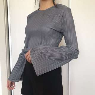TOPSHOP pleated blouse