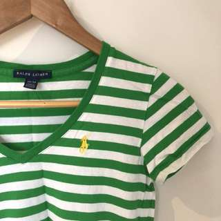 Genuine Ralph Lauren striped tee (green)