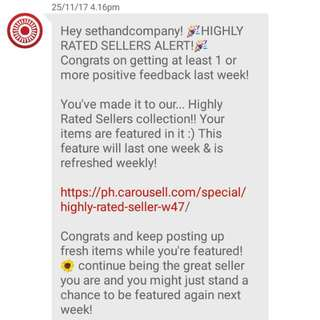 (9th) Thank You My Buyers And Co-sellers! Thanks Carousell!