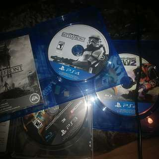 2 ps4 games and 1 ps3