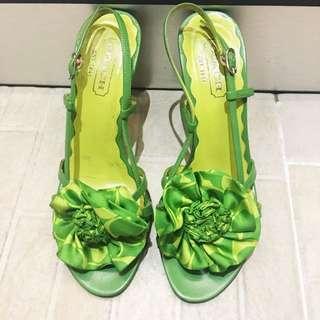 Coach green heels