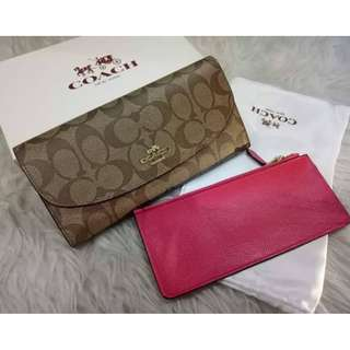 Authentic COACH Wallet with Wristlet