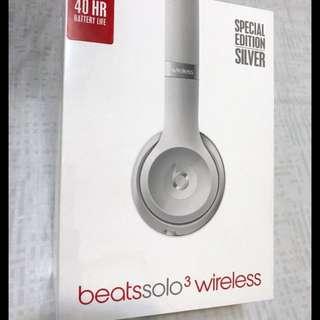 全新Beats Solo3 Wireless 頭戴式耳機 - 銀色