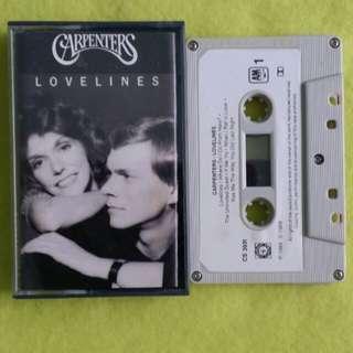 CARPENTERS. lovelines.  Cassette tape not vinyl record