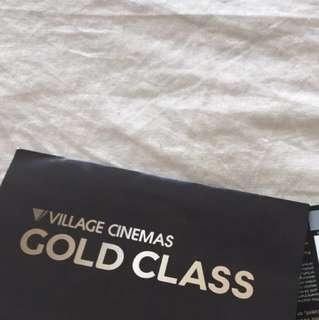 Village cinemas gold class tickets