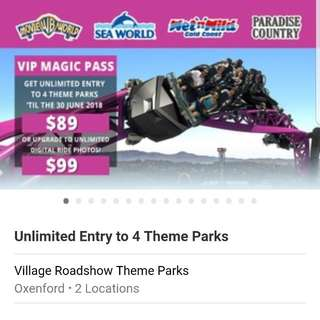 2 Tickets Gold Coast Theme Parks