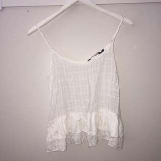 White 'Glassons' flowy top