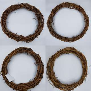 Wooden Wreath for christmas - 12 inches (30cm)