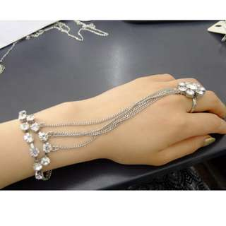 Silver Ring and Bracelet Chain