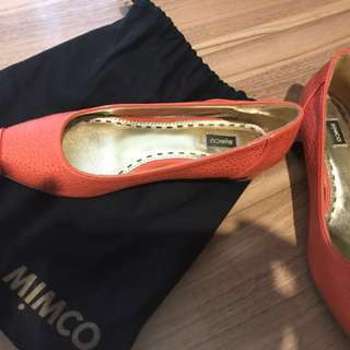 Mimco pointed flats leather size 6