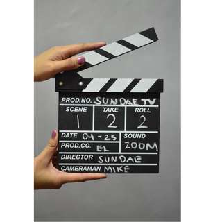 WHOLESALE Movie TV Director's Wooden Clapboard LIGHTS CAMERA ACTION!