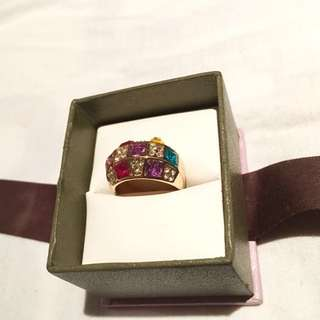 Multicoloured Crystal Ring