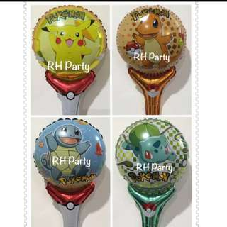(30/8) Handheld foil balloons cartoon characters. ( refer to  above 3 pics )