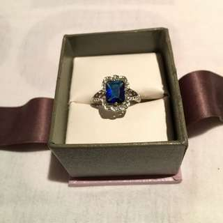 2ct Blue Sapphire Sterling Silver