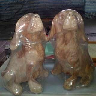 木雕:小獵狗