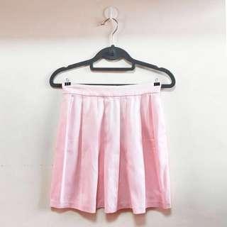 Stradivarius Pleated Pink Mini Skirt