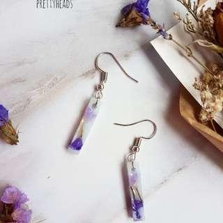Dried flowers earrings