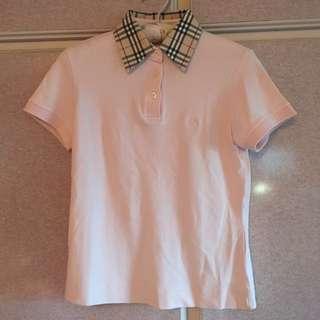 🚚 Burbeery黑標粉色 polo衫