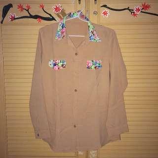 Brown Floral Shirt