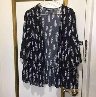 VII&CO 輕薄羽毛罩衫