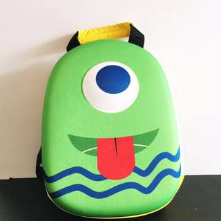 Cute One-eyed Monster Blue Green Yellow Backpack