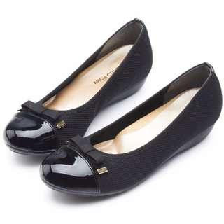 ARCH CONTACT 日本進口 娃娃鞋 23 36 23.5 37號 平底鞋 氣墊鞋 淑女鞋 休閒鞋 通勤 久站 黑