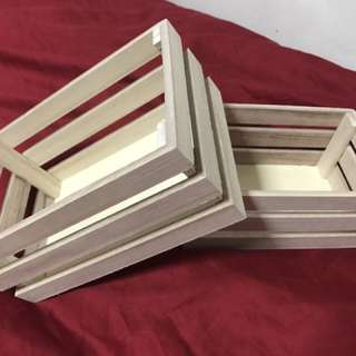 Mini wooden crates for decor