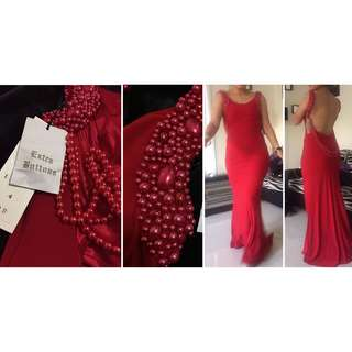 GASP RED FORMAL LONG DRESS