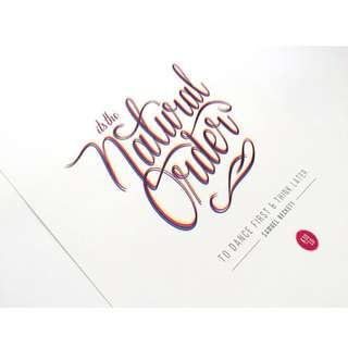 Typography Print - Natural Order; Multicolour