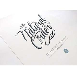 Typography Print - Natural Order: Blue & Grey