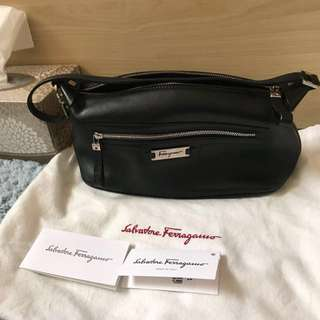 Ferragamo pouch leather bag