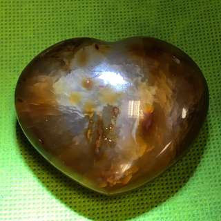 (Offer) Natural Heart Shape Agate - 天然心形玛瑙 - 119g