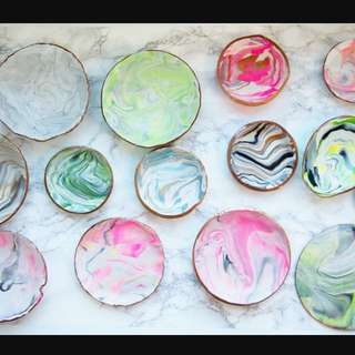 Marble DIY plate