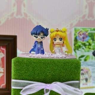 予約款 美少女戰士sailor moon 月野兔禮服朦面俠結婚公仔一對figure模型