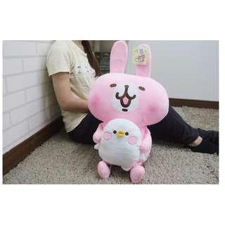 【高弟街百貨】18吋卡娜赫拉抱小雞 卡娜赫拉娃娃 兔子娃娃 P助娃娃 小雞娃娃 可愛萬物論 P助與兔兔 粉紅兔