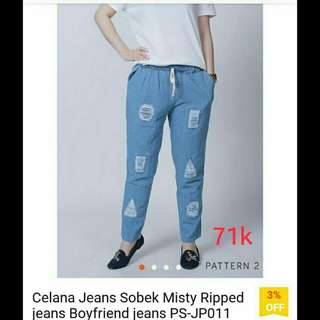 Ripped jeans misty