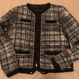 Moncler X Sacai Tweed Style Down Jacket 羽絨褸
