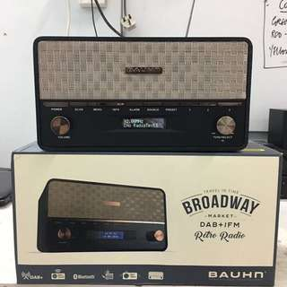 Bauhn - Broadway series - Retro FM radio with Bluetooth connectivity