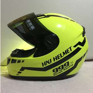 HNJ Full Face Fluorescent Green
