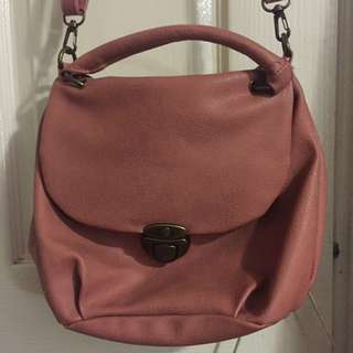 Earth Music And Ecology Pink Faux Leather Bag