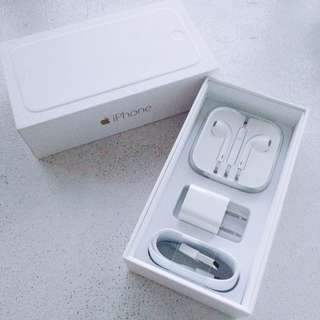 REPRICED! Original iPhone Charging cable/adapter and Earpods