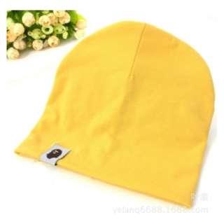 猿人頭兒童帽-黃色