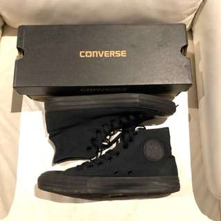 Converse All Black high top Size 8