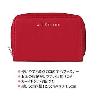 JILLSTUART優雅 紅色迷你錢包 銀包 卡片套