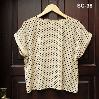 Preloved Polkadot Blouse / Atasan /  Baju