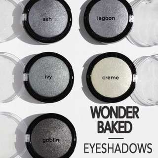 Green & Monotones. Wonder Baked Eyeshadows Vegan US Drugstore Cruelty-free Cosmetic Makeup Aoa Studio