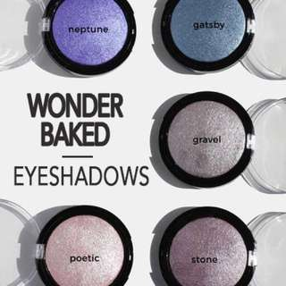 Blue & Purple Tones. Wonder Baked Eyeshadows Vegan US Drugstore Cruelty-free Cosmetic Makeup Aoa Studio
